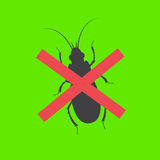 Remove Bugs. Remove Dangerous Bugs Vector Illustration Royalty Free Stock Photos