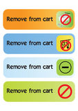 Remove from cart - vector Stock Photography
