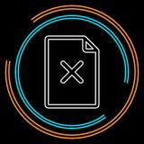 Remove document icon vector illustration
