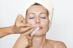 Remove facial hair Stock Photography