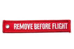 Remove before flight badge Royalty Free Stock Photos
