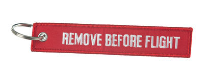 Remove before flight ribbon Royalty Free Stock Image