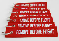 Remove before flight Stock Photo