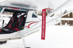 Remove before flight Royalty Free Stock Image