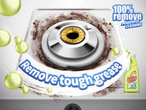 Remove grease detergent Stock Photo