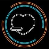 Remove lover symbol - flat vector icon - Remove heart vector illustration