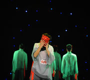 Remove the mask than wear it more difficult-The Nuo-The exorcism dance. In December 27, 2014, the Department of dance of the students are for the annual Stock Photography