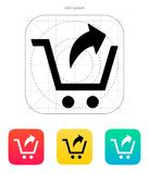 Remove from shopping cart icon. Vector illustration royalty free illustration