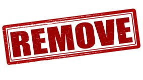 Remove. Stamp with remove inside,  illustration Royalty Free Stock Image