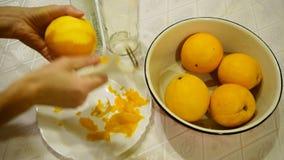 Remove zest of orange.