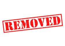 REMOVED. Red Rubber Stamp over a white background vector illustration
