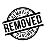 Removed rubber stamp Stock Photo