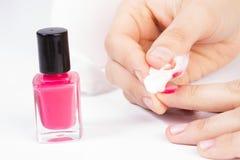 Removedor del esmalte de uñas Imagen de archivo