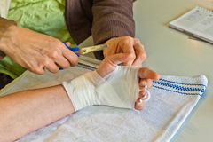 Removing of a bandage Royalty Free Stock Image