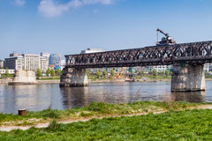 Removing the bridge royalty free stock photography