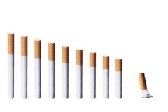 Removing Cigarettes Consumption Stock Images
