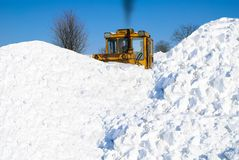 Removing snow Stock Image