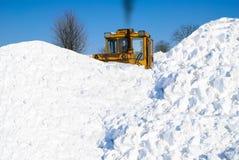 Removing snow Stock Image