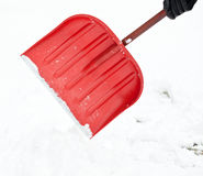 Removing snow with a shovel Stock Image
