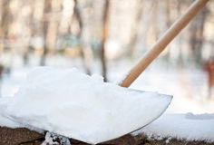 Removing snow after snowfall Royalty Free Stock Photography