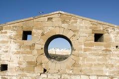 Rempart Essaouira, Maroc Image libre de droits