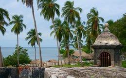 Rempart, fort San Fernando Photographie stock