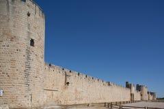 Rempart médiéval des mortes d'Aigues. Images libres de droits