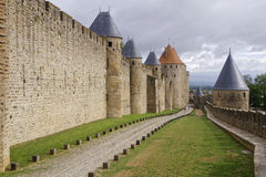 Remparts of Carcassonne Stock Photo