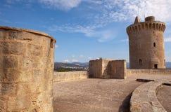 Remparts de château de Bellver, Palma, Majorca Images libres de droits