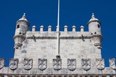 Remparts de la tour de Belem images libres de droits