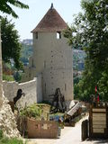 Remparts de la ville haute,, Provins ( France ) Stock Photography