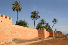 Remparts of Marrakesh Royalty Free Stock Photo