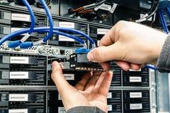Remplacement d'une unité de disque dur échouée Images libres de droits