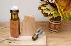 Remplacement de l'ampoule dans la lampe Photographie stock libre de droits