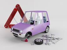 Remplacement des roues Photographie stock libre de droits