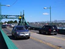 Remplacement du pont d'île de ville Images libres de droits