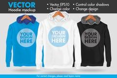 Remplacez la conception que votre changement de conception colore le calibre de maquette de vecteur de Hoodie illustration stock