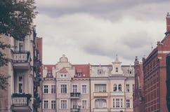 Remplacez les appartements dans la ville d'Europen photographie stock libre de droits