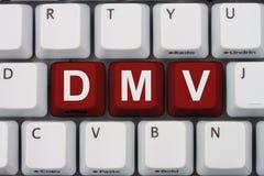 Remplacez votre permis en ligne au DMV image stock