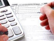 Remplir déclaration d'impôt Photo libre de droits