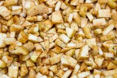 Remplir pour le secteur Cannelle de pommes photographie stock