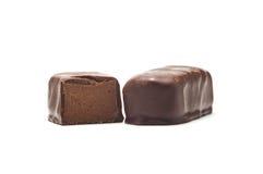 remplissage de chocolat de sucrerie Photos stock