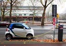 Remplissage de véhicule électrique Photos stock