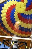 Remplissage du ballon à air chaud Photos libres de droits