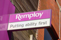 Remploy sign Stock Image