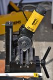Rems power tools. Vilnius, Lithuania - April 25: Rems power tools on April 25, 2019 in Vilnius Lithuania. Rems developing products for the pipe working royalty free stock photo