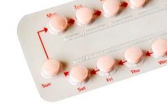 Remsa av preventivpillerar. fotografering för bildbyråer