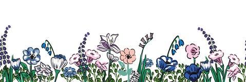 Remsa av realistisk blommavitbakgrund Arkivbild