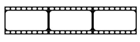 Remsa för abstrakt film eller gammal kamerafilm Arkivbilder