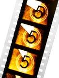 Remsa för bionedräkningfilm arkivfoton